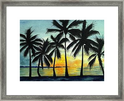 Dancing Palms Framed Print by Michael Vigliotti