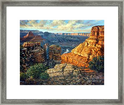 Dancing Rock Framed Print by Donald Maier