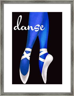 Dancing Shoes Framed Print by Mindy Sommers