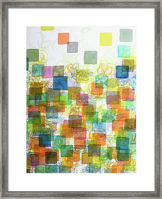 Dancing Squares Framed Print by Heidi Capitaine