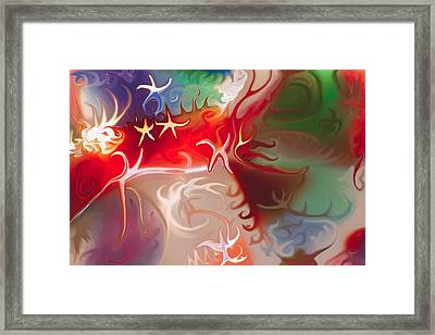 Dancing Stars Framed Print by Omaste Witkowski