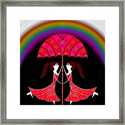 Dancing The Rainbow Framed Print by Pratyasha Nithin