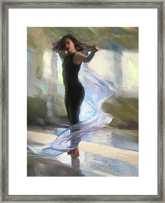 Dancing With Gossamer Framed Print by Anna Rose Bain
