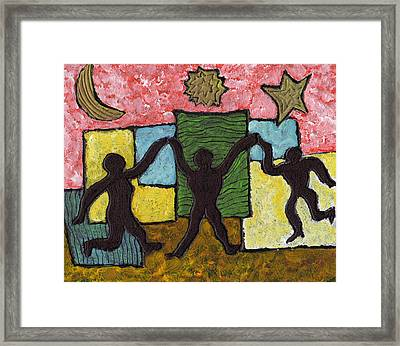Dancing With The Stars...and The Sun And The Moon Framed Print by Wayne Potrafka
