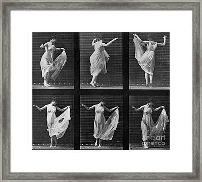 Dancing Woman Framed Print by Eadweard Muybridge