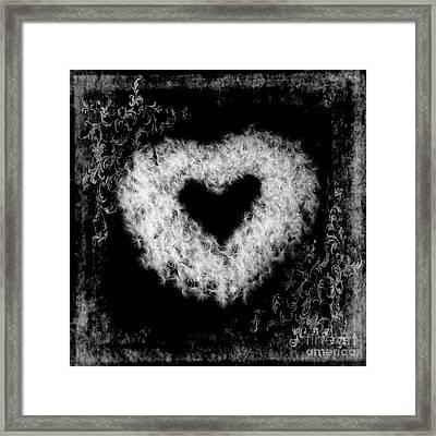 Dandelion Love Framed Print by Tamyra Ayles