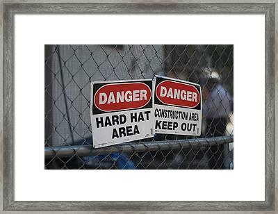 Danger Framed Print by Sam Walker