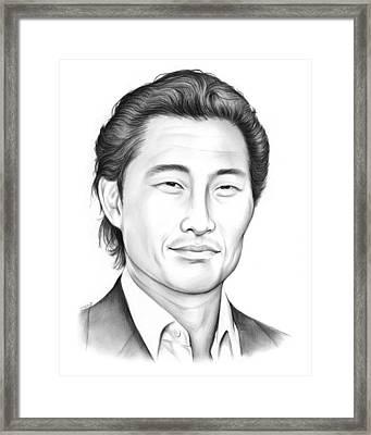 Daniel Dae Kim Framed Print by Greg Joens