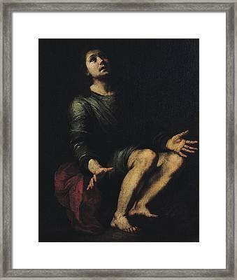 Daniel In The Lions' Den Framed Print by Bartolome Esteban Murillo