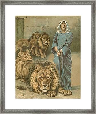 Daniel In The Lions Den Framed Print by John Lawson