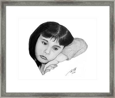 Dannie Framed Print by Peter Piatt
