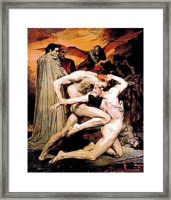 Dante And Virgil In Hell Framed Print by The  Vault - Jennifer Rondinelli Reilly