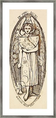 Dantis Amor -  Study Of Love With A Sundial And Torch  Framed Print by Dante Gabriel Rossetti