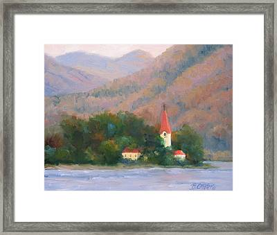 Danube Autumn Framed Print by Bunny Oliver