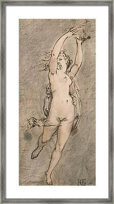 Daphne Framed Print by Hendrik Goltzius