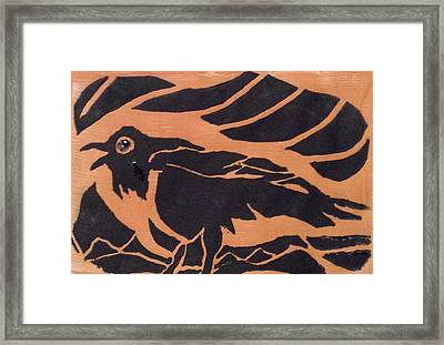 Darcy's Crow  Framed Print by Erika Chamberlin