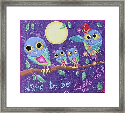 Dare To Be Different Framed Print by Soozie Wray