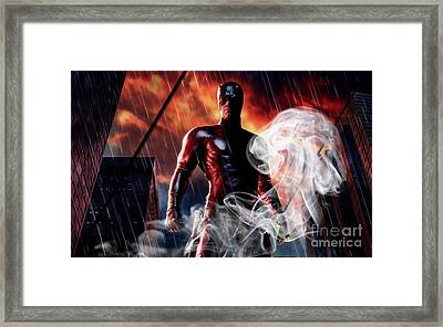 Daredevil Collection Framed Print by Marvin Blaine