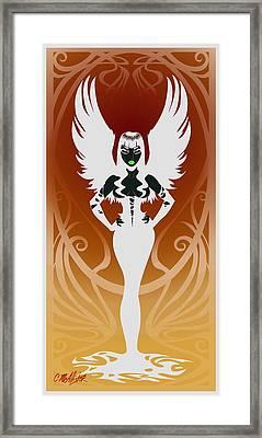 Dark Angel Framed Print by Cristina McAllister
