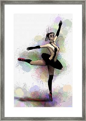 Dark Ballerina  Framed Print by Quim Abella