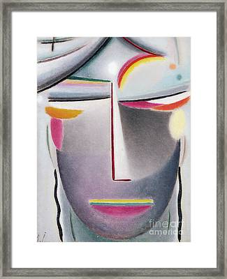 Dark Buddha Framed Print by Alexej von Jawlensky