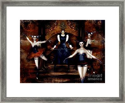 Dark Cabaret Framed Print by Shanina Conway