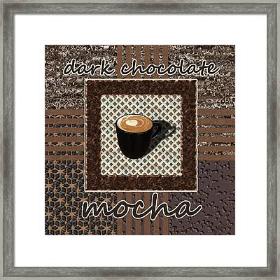 Dark Chocolate Mocha - Coffee Art Framed Print by Anastasiya Malakhova