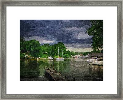 Dark Clouds Approaching - Oil Fx Framed Print by Brian Wallace