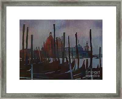 Dark Day In Venice Framed Print by Ryan Fox