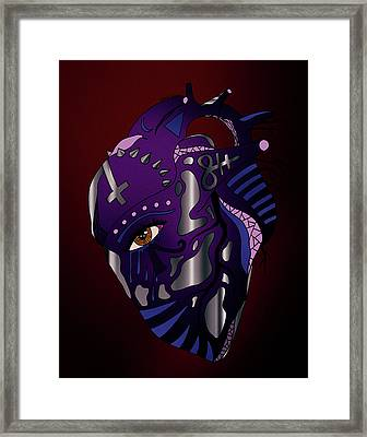 Dark Heart Framed Print by Kenal Louis