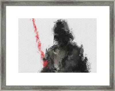 Dark Lord Framed Print by Miranda Sether