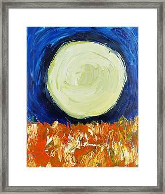 Dark Moon Framed Print by Peter Nervo