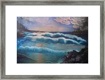 Dark Night Framed Print by Connie Young