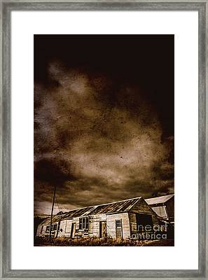 Dark Rural Ruins Framed Print by Jorgo Photography - Wall Art Gallery