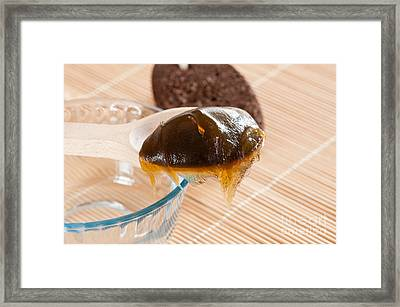 Dark Savon Noir Black Soap Framed Print by Arletta Cwalina