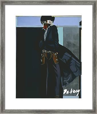 Dark Shadow Framed Print by David DeVary