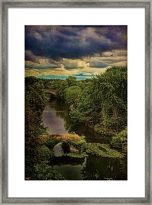 Dark Skies Over The Avon Framed Print by Chris Lord