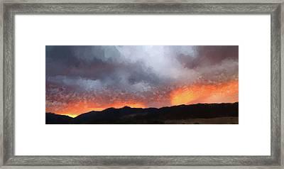 Dark Sunset Framed Print by Gary Grayson