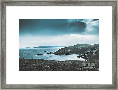 Dark Tense And Dramatic Sea Cliffs Framed Print by Jorgo Photography - Wall Art Gallery