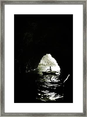 Darkest Waters Framed Print by Cambion Art