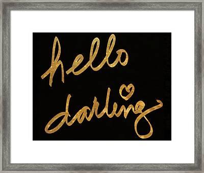 Darling Bella I Framed Print by South Social Studio