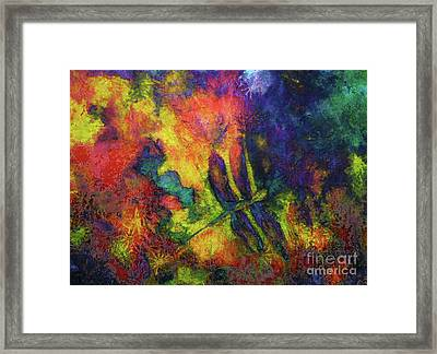 Darling Darker Dragonfly Framed Print by Claire Bull