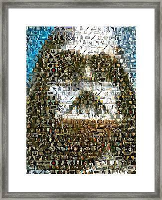Darth Vader Mosaic Framed Print by Paul Van Scott