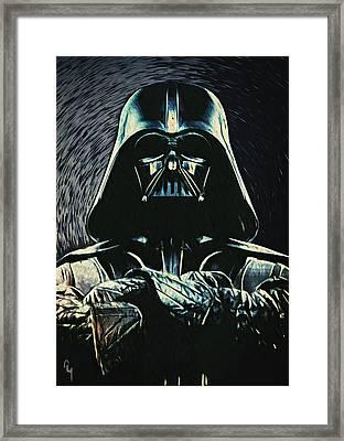 Darth Vader Framed Print by Taylan Apukovska