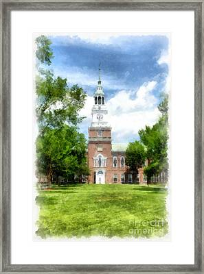 Dartmouth College Watercolor Framed Print by Edward Fielding