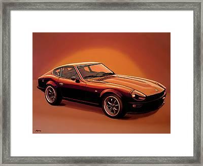 Datsun 240z 1970 Painting Framed Print by Paul Meijering