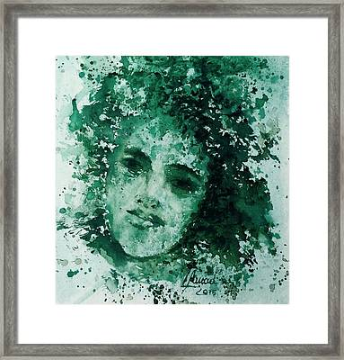 Daughter Of Nature Framed Print by Laila Awad Jamaleldin