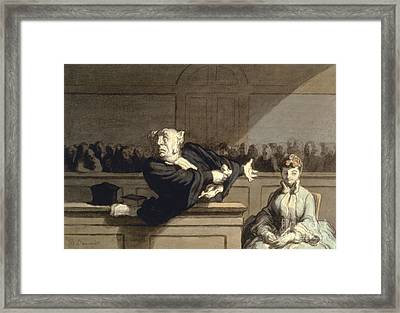 Daumier: Advocate, 1860 Framed Print by Granger