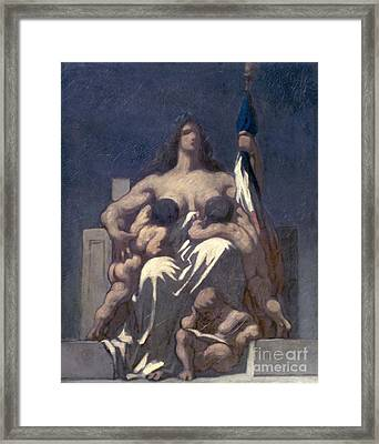 Daumier: Republic, 1848 Framed Print by Granger