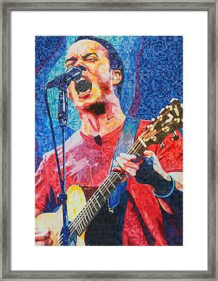 Dave Matthews Squared Framed Print by Joshua Morton